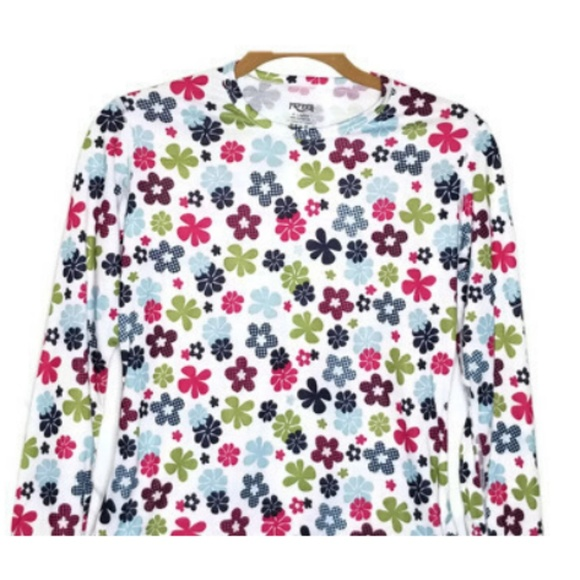 Hot Chillys Youth Pepper Skins Print Crewneck